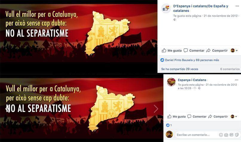 Cabecera de Facebook de Espanya i Catalans. Tabarnia.org