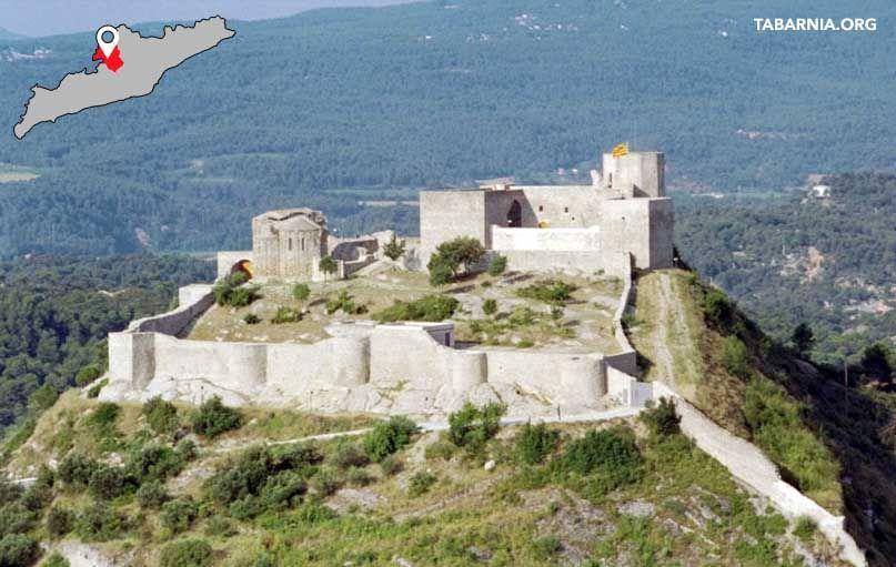 Castillo de Claramunt en La Pobla de Claramunt. ruta de los Castillos de Tabarnia.
