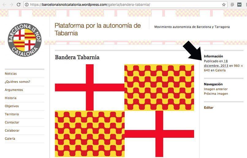Bandera original de Tabarnia.