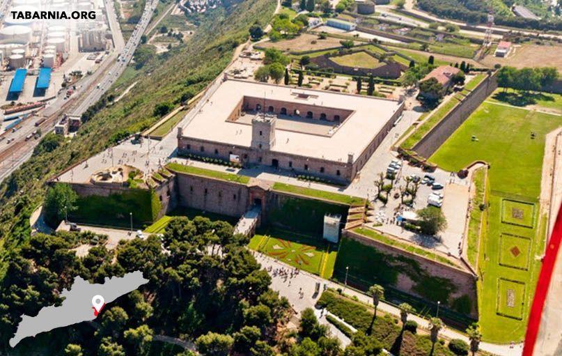 Castillo de Montjuic en Barcelona. Tabarnia.