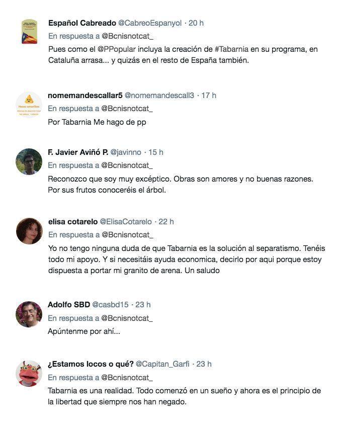 Comentarios sobre la propuesta de Pablo Casado de crear Tabarnia.