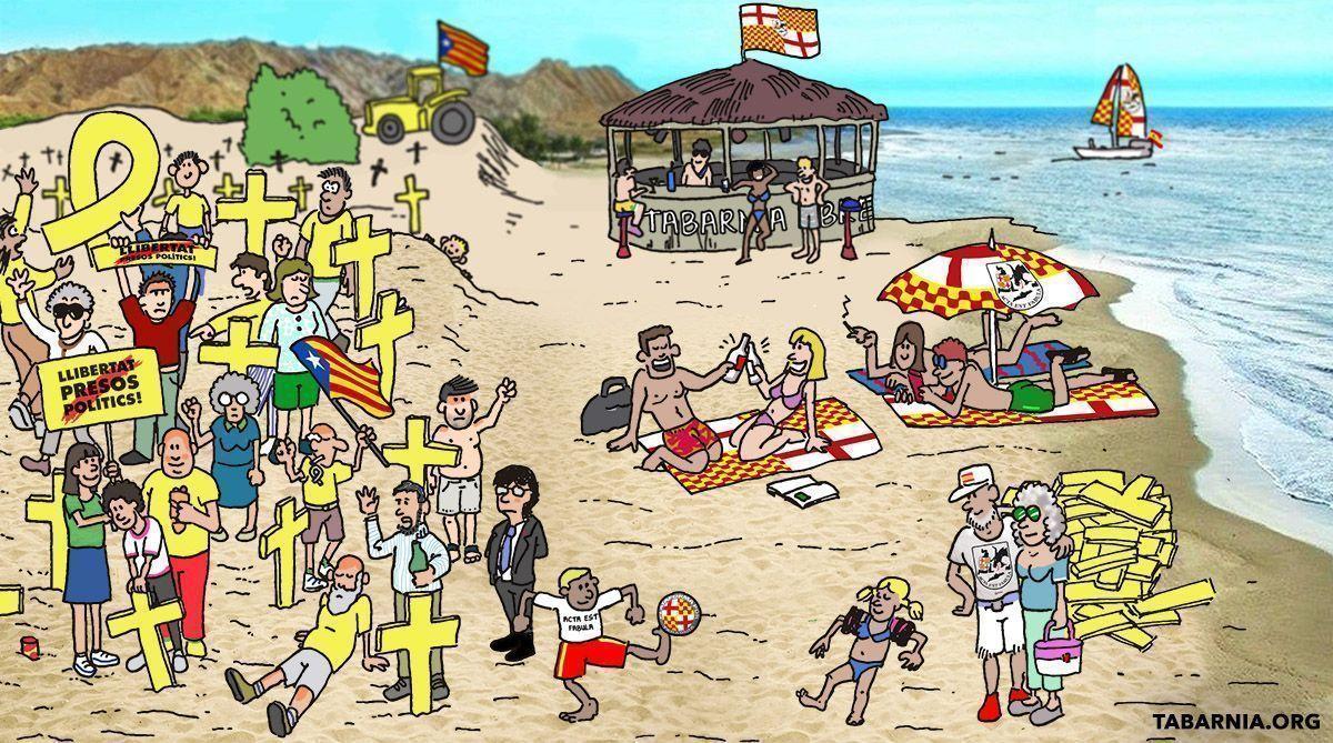 ¿Dónde está Puigdemont? En las playas de Tabarnia.