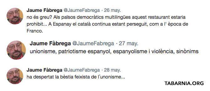 Jaume Fàbrega i Colom, profesor de la Universidad Autónoma de Barcelona. Plataforma por Tabarnia.
