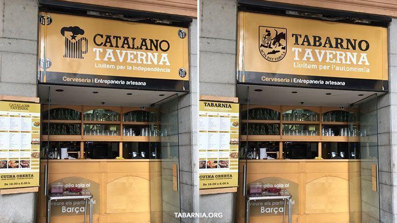 Tabarno Taverna. Taberna de Tabarnia. Tabarnia.